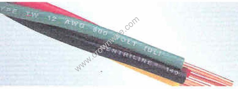 Item # 12/2PTFG, Twisted Type THW Submersible Pump Cable